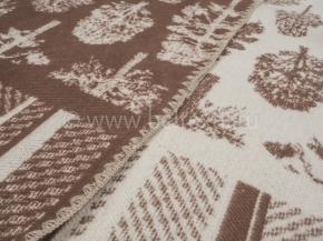 Одеяло хлопковое 170*205 жаккард 16/25 Деревья цвет коричневый