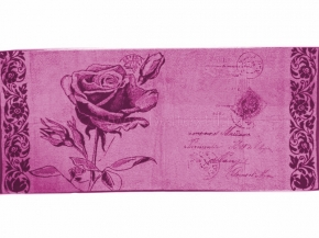"""6с103.412ж1 """"Роза на конверте"""" Полотенце махровое 50х90см"""
