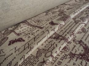 Ткань бельевая арт 175448 п/лен п/вар. набивной рис 18-16/2 Винтаж, ширина 150см