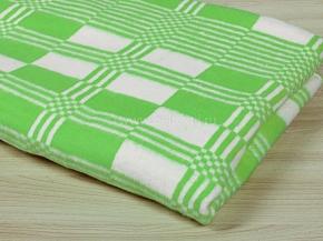 Одеяло байковое 100*140 клетка  цв. салатовый