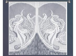 4С364-Г50 ЗАНАВЕСКА ДЛЯ КУХНИ белый 1.60*1.70м